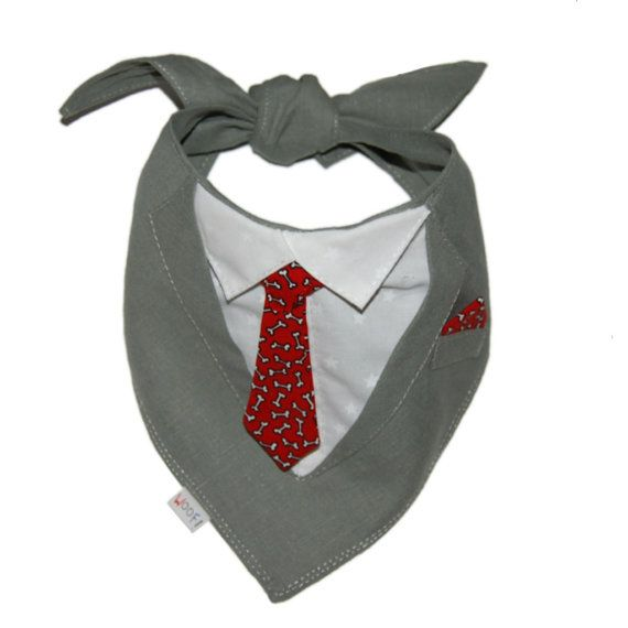 Pet Bandana Wedding Dog Bandana Suit / Tuxedo by WoofCreations, $25.00