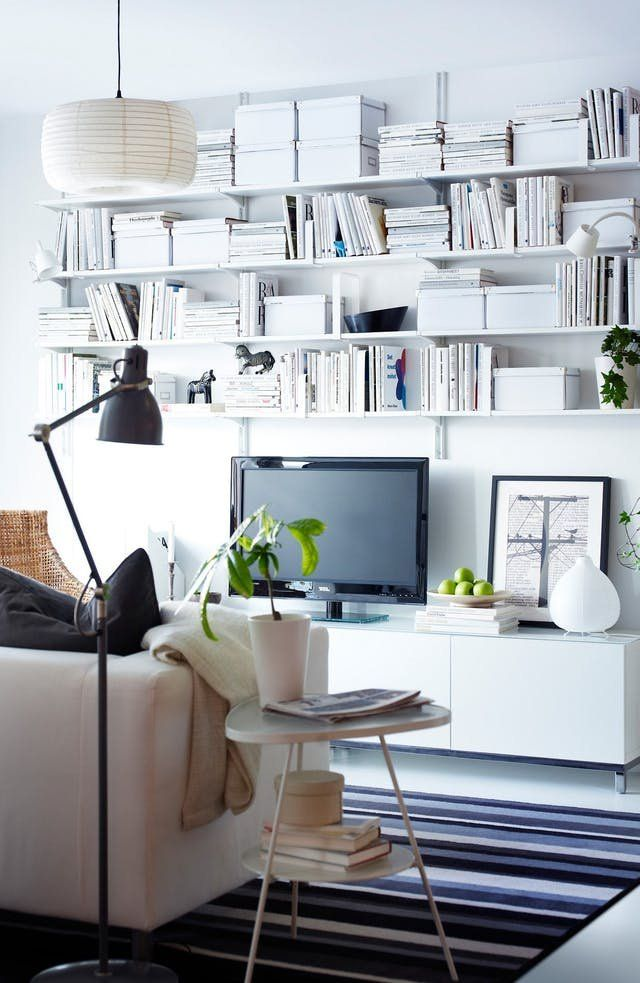 9 Clever Small Space Ideas To Steal From Ikea Ikea Small Spaces Wall Mounted Shelves Small Spaces