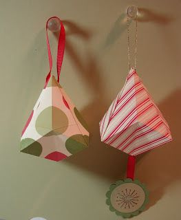Artful Imagination: Origami Bell Ornaments This uses glue, fyi.
