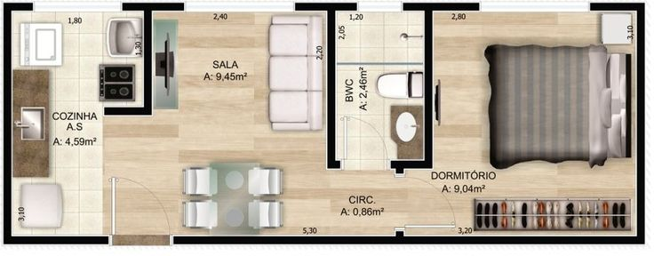 Modelos de casas de 3 metros de ancho