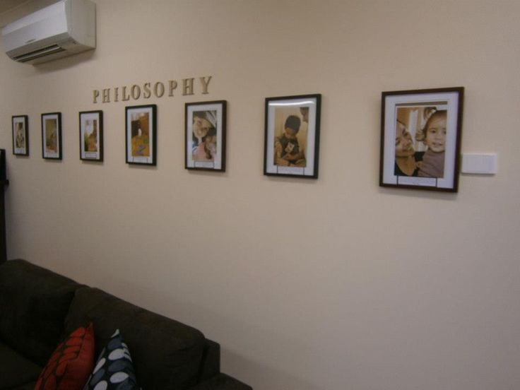 """""""Our Centre Philosophy displayed in our Entrance"""" I love that the pictures are larger and speak louder than the words on the bottom. Beautiful!"""