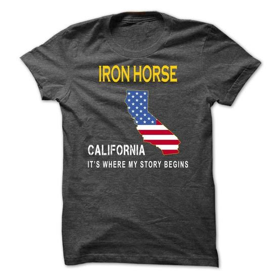 Cool IRON HORSE - Its Where My Story Begins T-Shirts