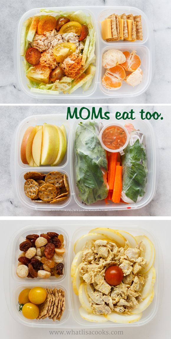Moms need to eat lunch too. Lisa, of What Lisa Cooks, packs in @EasyLunchboxes