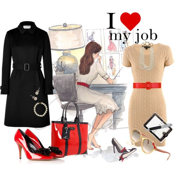 I love my job, created by dea-afrodite on Polyvore