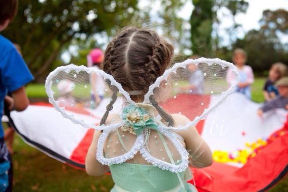 Vintage Mint handmade lace shabby chic vintage pastel mint fairy wings princess girls birthday party costume  on Etsy, $49.95 AUD
