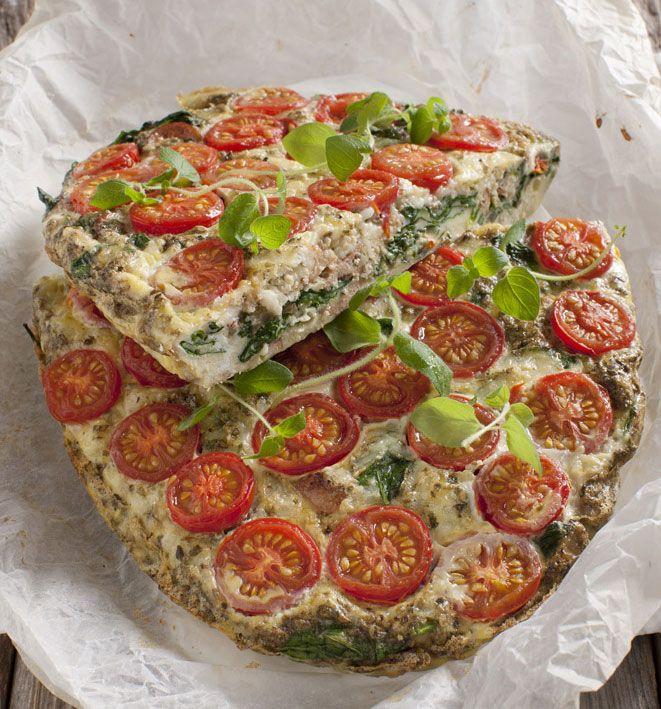 """Omelet """"pizza"""" til fase 2 i Dukan Kuren."""