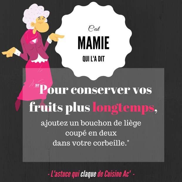 Mamie garde les fruits frais !