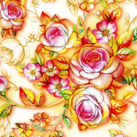 Seamless composition with shining roses by Maria Rytova  #pattern #textile #background #backing #paper #work #纹样 #damask #арт #картинки #picture #decoupage #декупаж #дамаск #узоры #barok #baroque #wallpaper #design #卷草 #flower #图案 #фон #print #принт #printable #papel #ornament  #seamless #golden #luxury #surface #rose #floral #decorative #decor #vintage #tile #бордюр #border