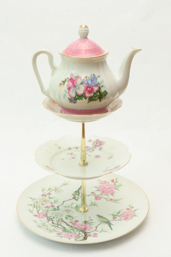How To Make A Cake Stand From Old China