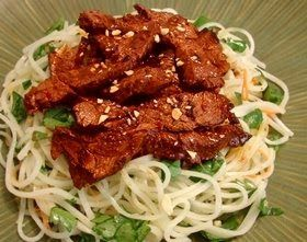 Food Wishes Video Recipes: Firecracker Beef on Cold Rice Noodle Salad - Warni...