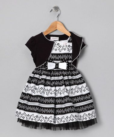 Youngland on #zulily today! http://www.zulily.com/invite/jpalmer893/p/black-white-floral-stripe-dress-shrug-toddler-girls-27475-1771574.html?tid=social_pinref_shareviaicon_na=1771574