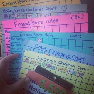 Brilliant behavior charts for home and even better - errands!