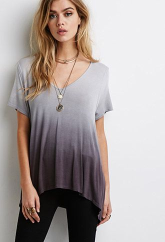 Dip-Dyed Trapeze Tee | FOREVER21 - 2000112169