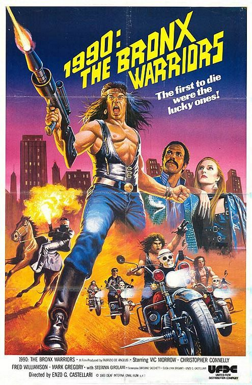 a look at post-apocalyptic movies from the 1980s | A Motley Miscellany - 1990: The Bronx Warriors poster