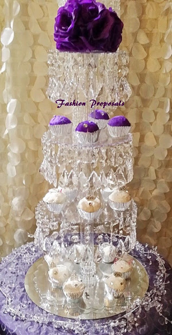 Sale Bling Cupcake Tower 4 tiers. Cupcake stand. Crystal cupcake stand. Wedding cupcake stand. Crystal cake stand. Cake stand tower by FashionProposals on Etsy https://www.etsy.com/listing/181111513/sale-bling-cupcake-tower-4-tiers-cupcake
