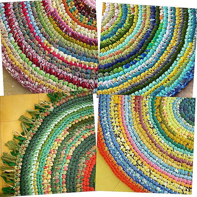 Diy: Rag Rugs Made From Old T Shirts U0026 Bed Sheets. Rag Rug TutorialCrochet  ...