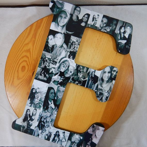 FREE GIFT WITH EVERY ORDER!  This item is for a custom order monogram letter to show off a collection of your own photos applied to a letter,