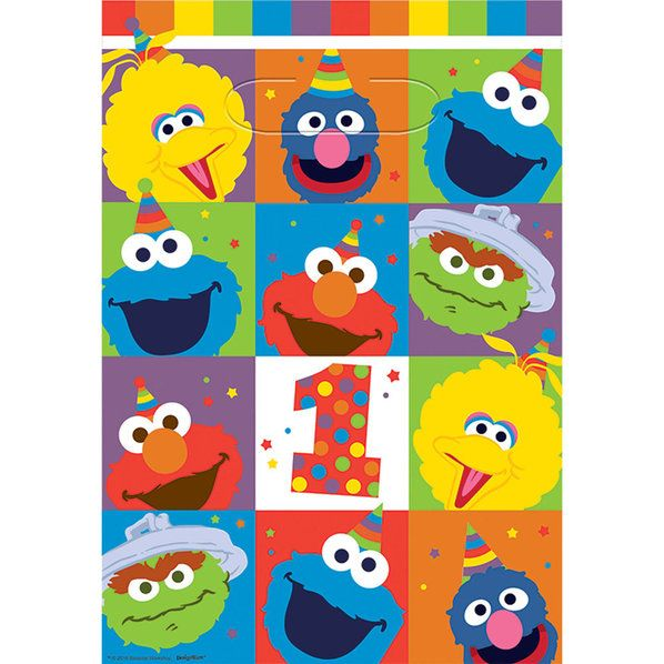 Check out Elmo Turns One Loot Bags | Elmo's 1st Birthday party supplies from Birthday in a Box from Birthday In A Box
