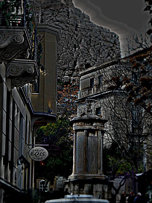 Monument of the Bath of the Winds or Aerides. -Plaka,Athens   photo by M.Grivas .