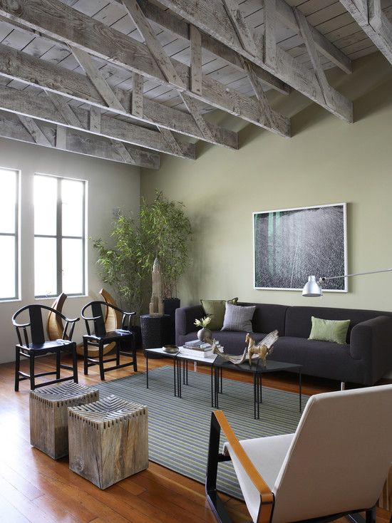 Living Room Green Gray Walls Design, Pictures, Remodel, Decor and Ideas