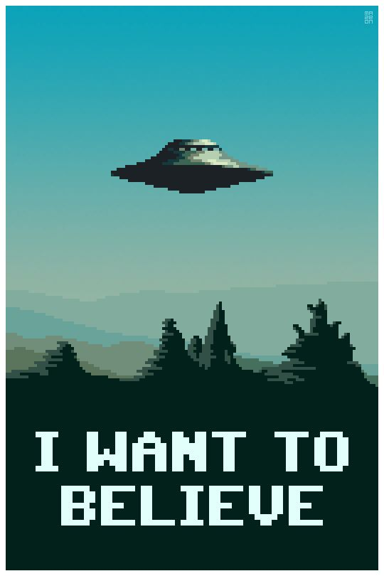 I Want To Believe Shown at 400 percent.