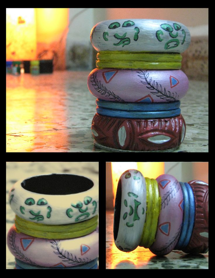 up cycled #penstand by #bangles  by #fitoori #classy