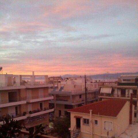 Oropos greece sunset no filter