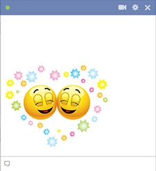 Happy emoticons for Facebook