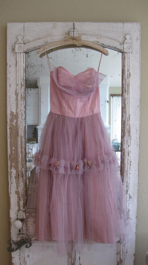 1950's Tulle Prom Dress