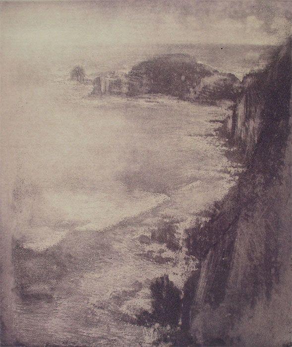 The Cape in Summer by Justin McShane - Printmaker - Tasmanian artist