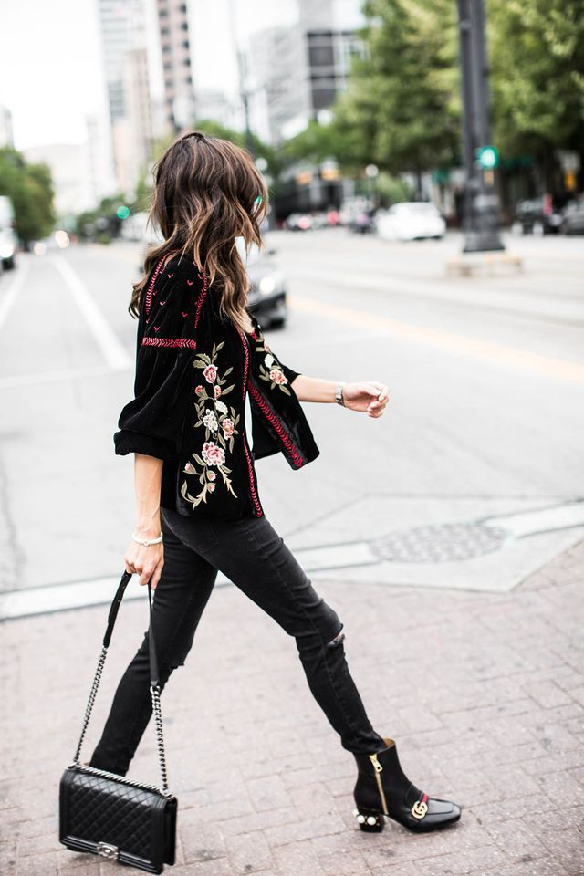 Fashion | Style | Embroidered Suede