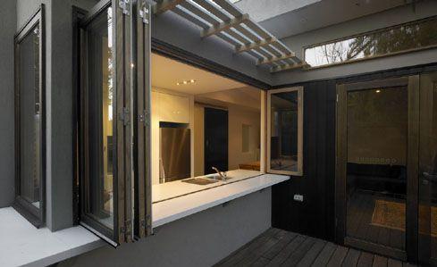 Kitchen Servery - Bifold windows