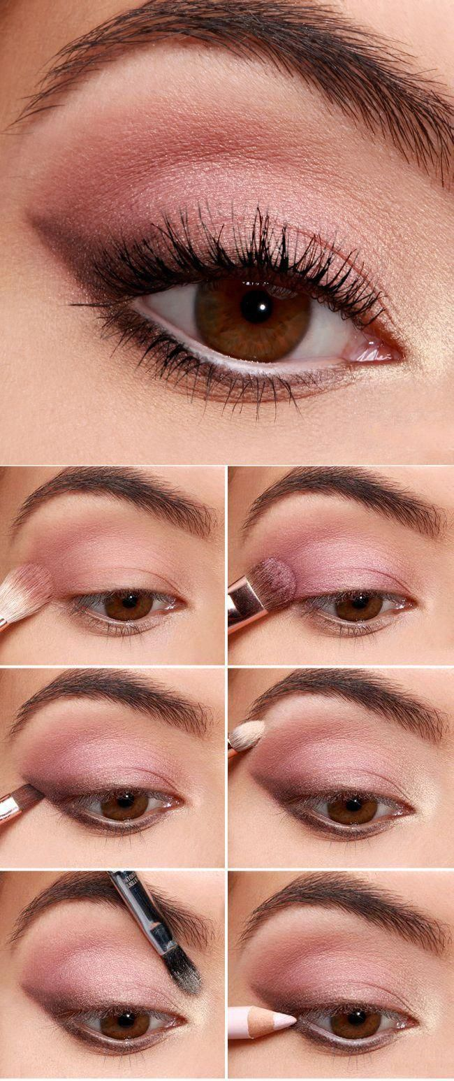 10 tutoriales para maquillar tus ojos del color más femenino