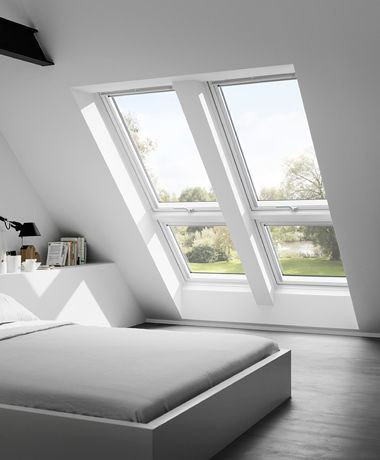 Daglichtsysteem Combi hellend zorgt voor uitzicht tot op het vloeroppervlak