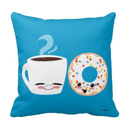 コーヒーとドーナツパル枕