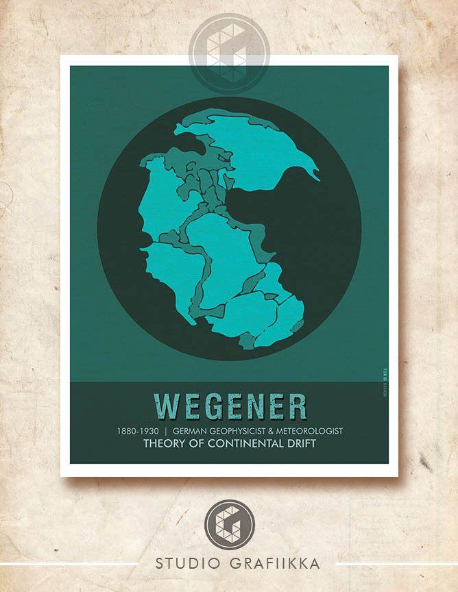 Alfred Wegener poster, Scientist Poster, Science Poster, STEM Posters, Science Lab Posters, Classroom Decor, Geophysicist, Famous Scientists https://www.etsy.com/listing/568122968/alfred-wegener-poster-scientist-poster?utm_campaign=crowdfire&utm_content=crowdfire&utm_medium=social&utm_source=pinterest