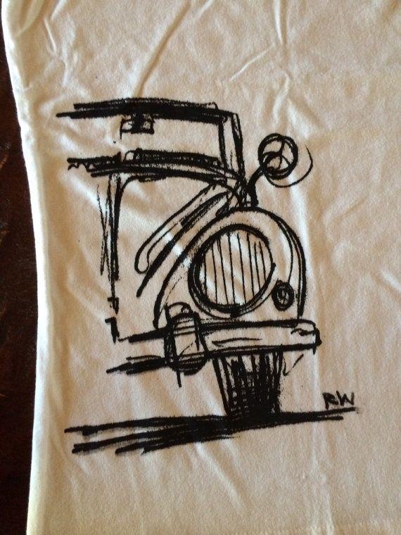 Volkswagen vw bug bus women's ladies teen tee shirt by MeegeeWare, $15.00