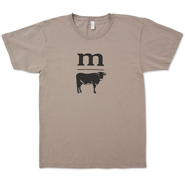 Modern Farmer's Cow T-shirt This American Apparel enzyme washed t-shirt has a unique super-soft feel.100% fine Jersey cotton. Limited Edition  S