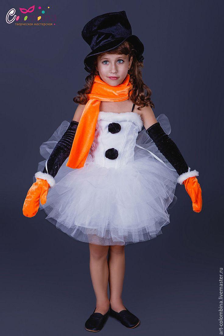 Купить Костюм снеговичка - белый, снеговик, костюм снеговика, велюр, фатин