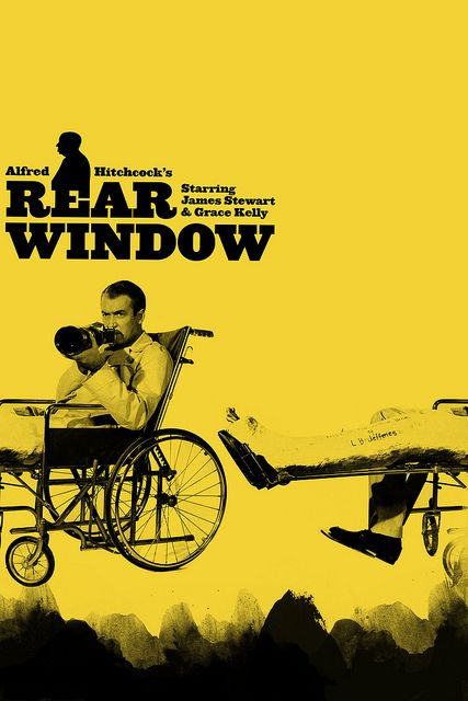 Rear Window   Artist: Arian Behzadi - http://cargocollective.com/arianbehzadi Grace Kelly and James Stewart were a great combo in this movie