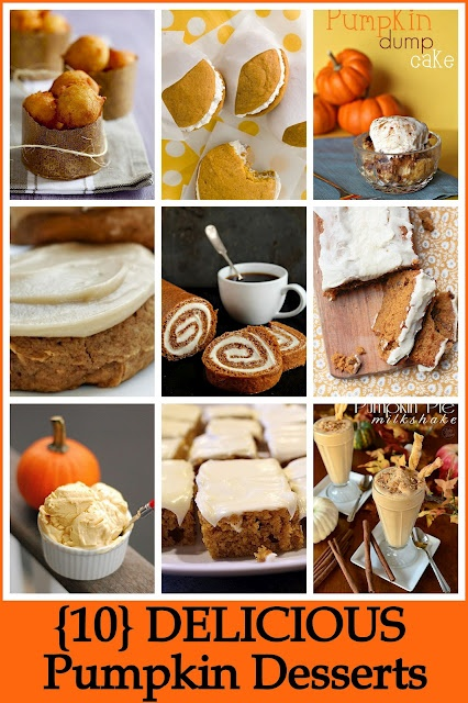 10 Delicious Pumpkin Desserts. OH YUM! #pumpkin desserts #fall baking #desserts: Pumpkin Recipes, Fall Pumpkin, Delicious Pumpkin, Desserts Recipes, Pumpkin Rolls, Pumpkin Desserts, Healthy Desserts, Crafts O' Maniac, 10 Delicious