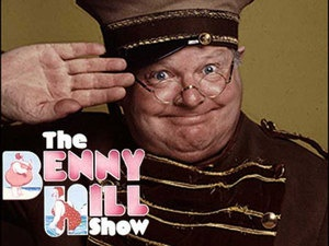 The Benny Hill show!! He was one funny character not to mention dirty!!