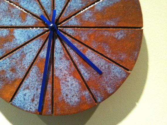 Handbuilt ceramic clock by CsquaredCeramics on Etsy, $80.00