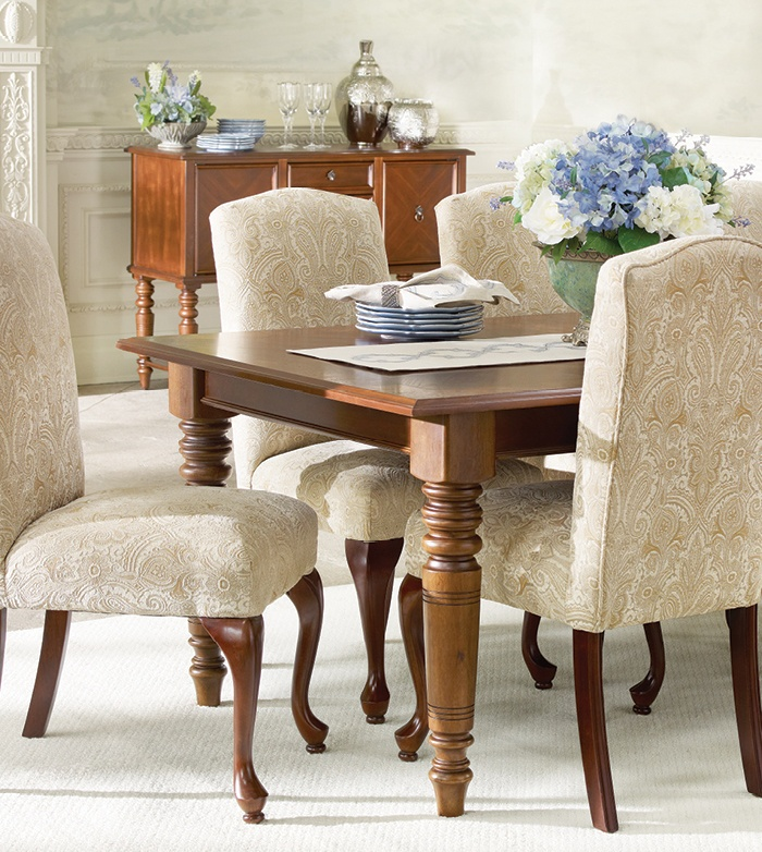 Island Estate Dining Table & Langford Dining Chairs | Bombay Canada