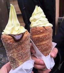 (Photo via redditor iBleedorange)These are trdelník. They are pastries from the Czech Republic and Slovakia. Street Food around the World: An Encyclopedia of Food and Culture describes them as a sweet …