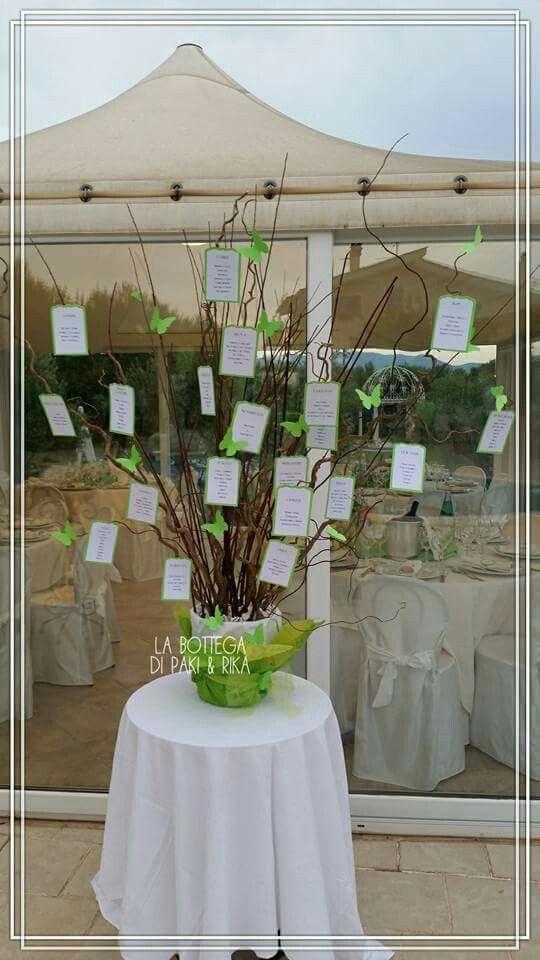 Tableau Mariage per un matrimonio un verde e pieno di farfalle!  #wedding #handmade #butterfly #green #tableau #mariage