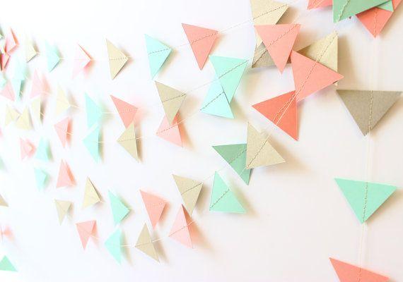 Hey, I found this really awesome Etsy listing at https://www.etsy.com/listing/223919765/geometric-garland-mint-wedding-decor