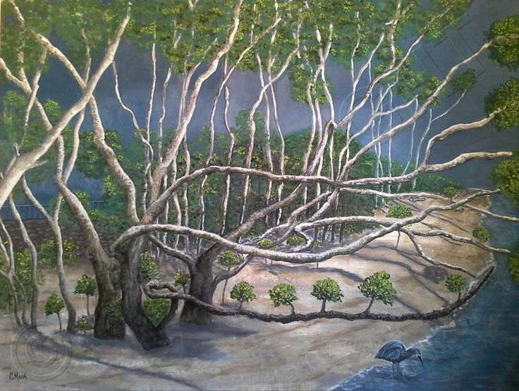 Painting of Brisbane River Mangroves