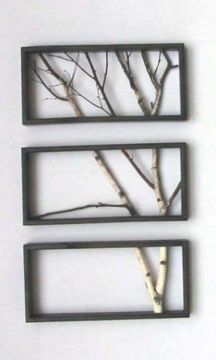 birch branch triptych by john oman
