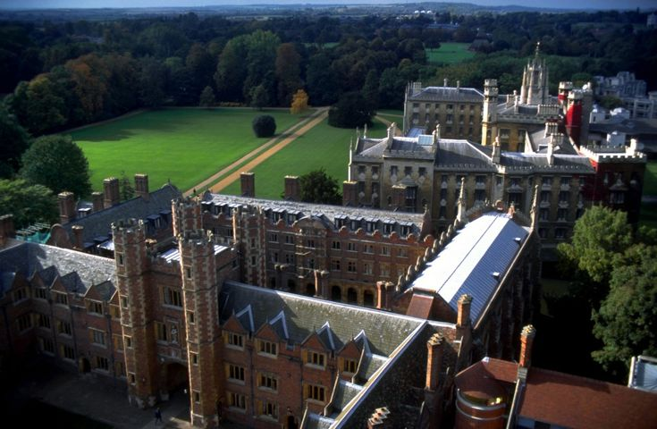 University of Cambridge _ View over the rear buildings of St John's from the Chapel.